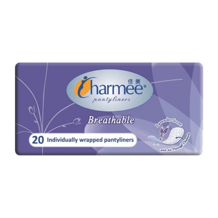 Picture of Charmee Panty Liner Breathable Lavander 20's, CHA148