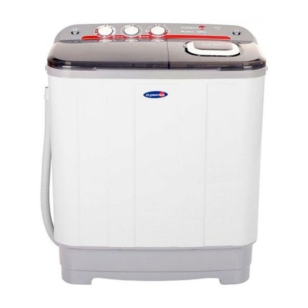 Fujidenzo 6 kg. Twin Tub Washer with Eco-Soak Wash Cycle  lets you save up to 25% detergent and water during every wash, JWT601