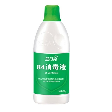Picture of Blue Moon 84 disinfectant water 600g,1 bottle, 1*12 bottle|蓝月亮84消毒水600g,1瓶,1*12瓶